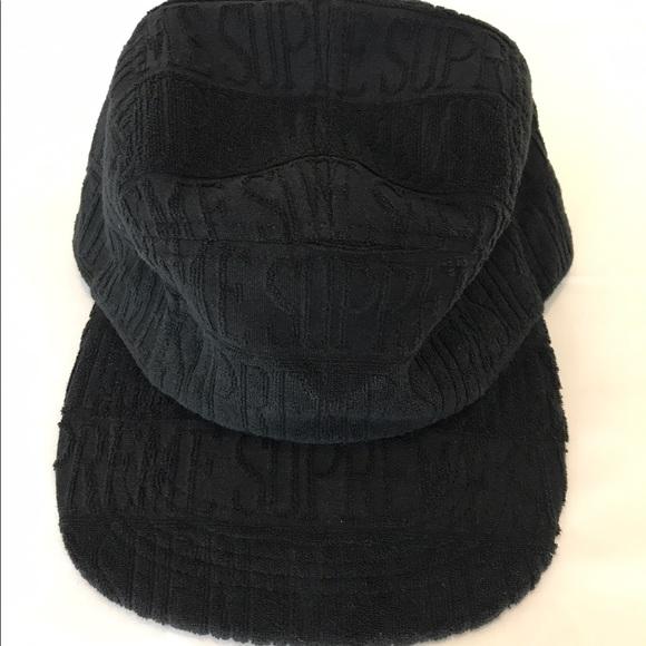 a216c43739c Supreme text stripe terry camp hat. NWT. Supreme.  70  48. Size