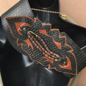 Accessories - STEAMPUNK..WONDER WOMAN? Hand made leather belt
