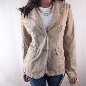 J Crew Chino Twill Khaki Jacket