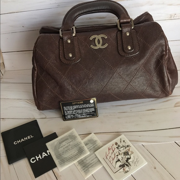 f3528520b1b3 CHANEL Bags | Caviar Quilted Cc Doctor Bag Brown | Poshmark