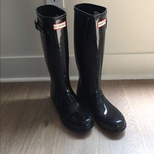 Hunter Original Tall Gloss Rain Boots 7