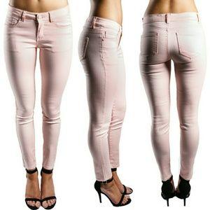 Pants - Hip Hugger Skinnies In Peach