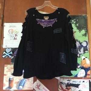 Pastel Goth DIY Grunge Sweater