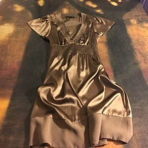 BCBGMaxAzria Dresses & Skirts - BCBG MAXAZRIA Brown Silk Dress