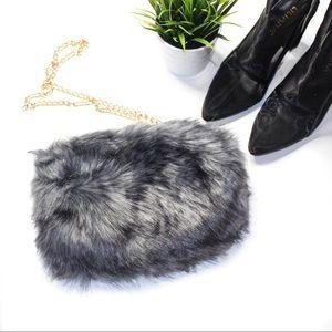Handbags - FLASH DEAL‼️  new   grey fur bae bag