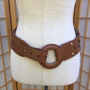 ? Accessories - Basketweave Leather Belt