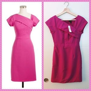 NWT Pink J. Crew Origami Sheath Dress