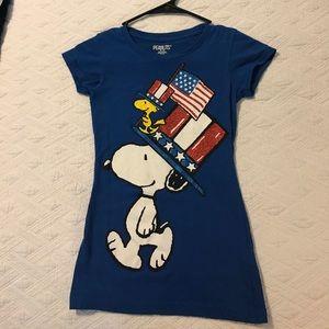 Peanuts Other - Peanuts Snoopy blue July 4th Tee