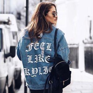 I FEEL LIKE KYLIE Over-sized Denim Jacket