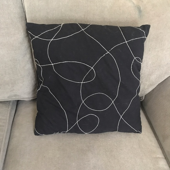 67% off Other - Set of 2 square black and white throw pillows from Erica s closet on Poshmark
