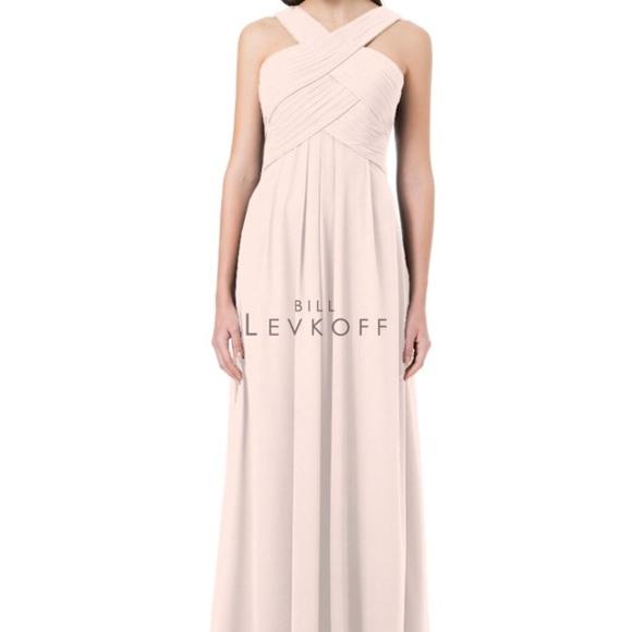 9e8de5f155 Bill Levkoff Bridesmaid Dress 1218 Petal Pink 18