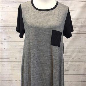 LuLaRoe Dresses & Skirts - Lularoe Carly L heathered grey with black!!!!