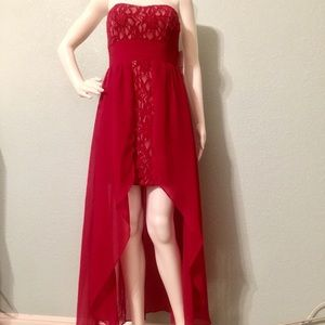 Hailey Logan Dresses & Skirts - Hailey Logan high low red gown