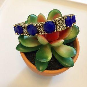 J. Crew Jewelry - J. Crew • Blue Stone Stretch Bracelet