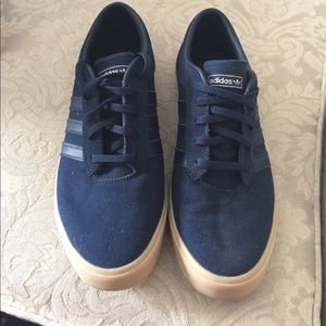 Adidas Other - Adidas Navy Blue Low Tops