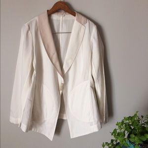 Brunello Cucinelli Jackets & Blazers - Brunello Cucinelli jacket asymmetrical collar S
