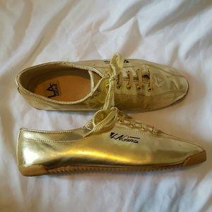 L.A. Gear Shoes - Vintage LA Gears 24kt gold sneakers
