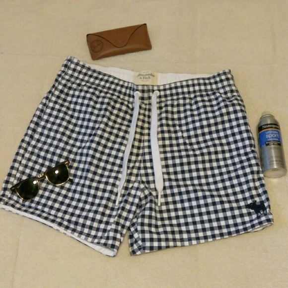 cecf14a039 Abercrombie & Fitch Other - Abercrombie and Fitch Gingham Swim Trunks