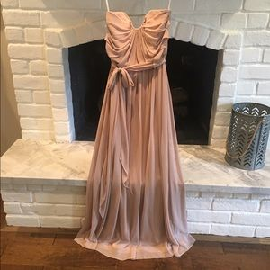 After Six Dresses & Skirts - Beige Strapless Evening Gown
