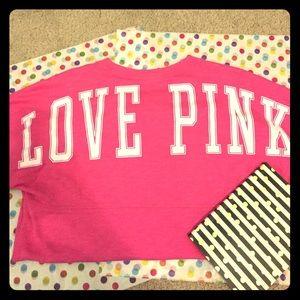 PINK Victoria's Secret Tops - 📚BTS/Campus Preview!📚VS Pink Small Sweatshirt