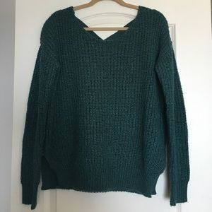 Urban Outfitters Knit Sweater w/ Cross Back