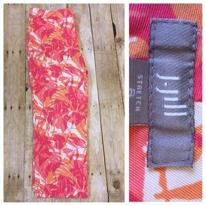 J. Jill Pants - J. Jill Crop Ankle Pant Cotton  Tropical print