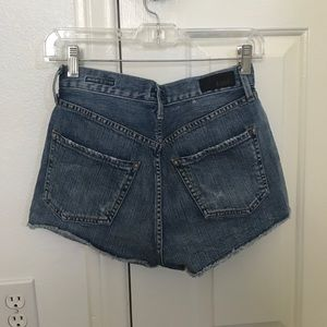 Agolde Pants - blue high waisted shorts