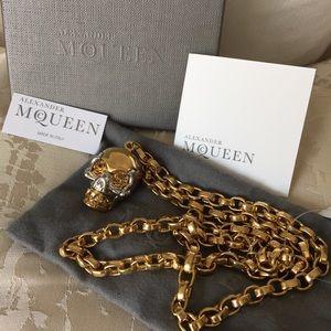 Alexander McQueen Jewelry - Alexander McQueen Gold/Silver Toned Skull Necklace