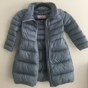 Il Gufo Other - Il Gufo Girls 6 Ice Blue Long Like Puffer Coat