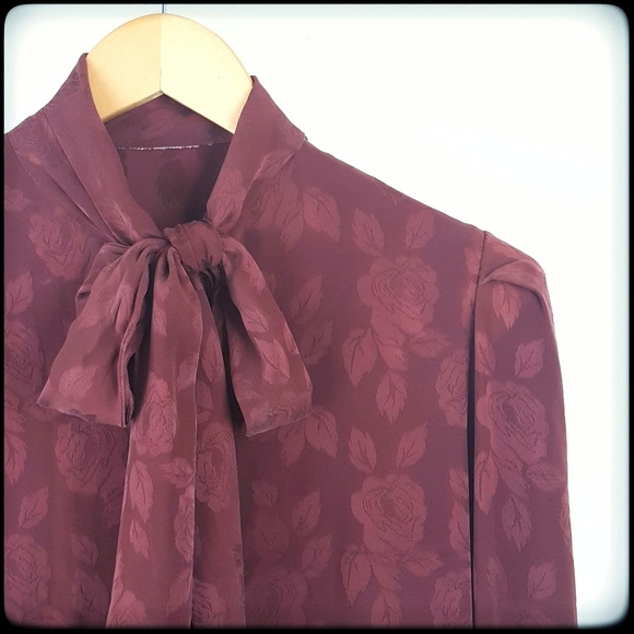 Satin Bow Blouse eBay