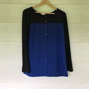 claudia richard Tops - Blue and black blouse