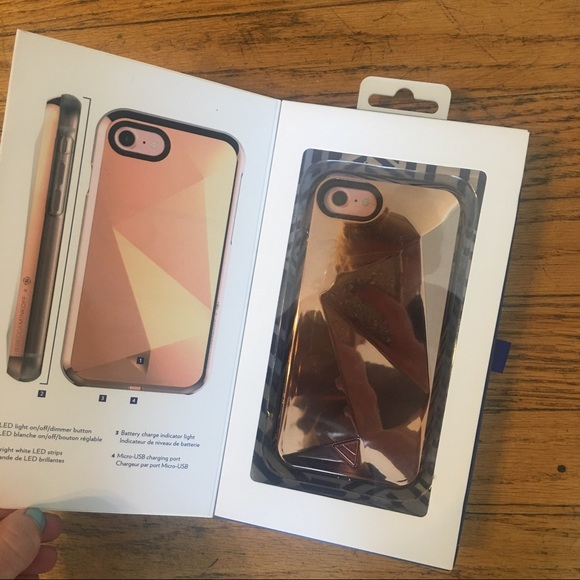 50 off rebecca minkoff accessories rebecca minkoff x ge lumineux iphone 7 phone case from. Black Bedroom Furniture Sets. Home Design Ideas