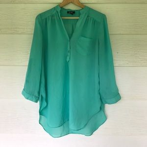 by & by Tops - Green popover top