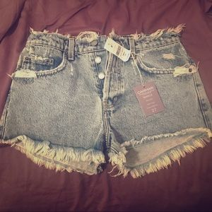 Carmar Pants - LF CARMAR High-Rise Denim Shorts