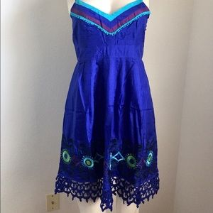 Sugarlips Dresses & Skirts - Royal blue short summer silk dress