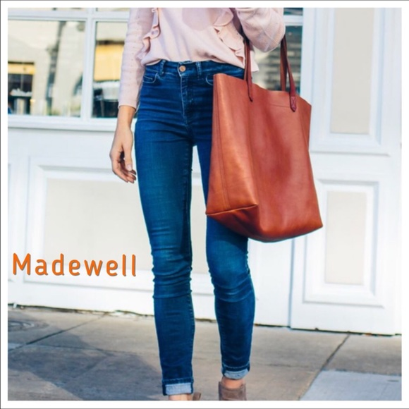 fcb4b18ac519 Madewell Bags | Nwt Transport Large Leather Tote | Poshmark