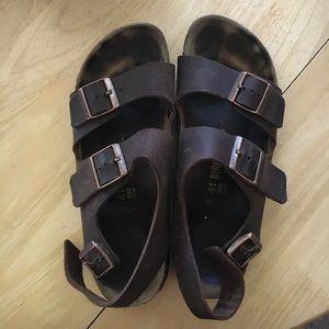 Birkenstock Shoes - Gently used Birkenstocks with strap in back