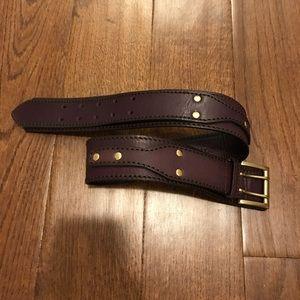 Linea Pelle Accessories - Linea pelle gold plum leather belt