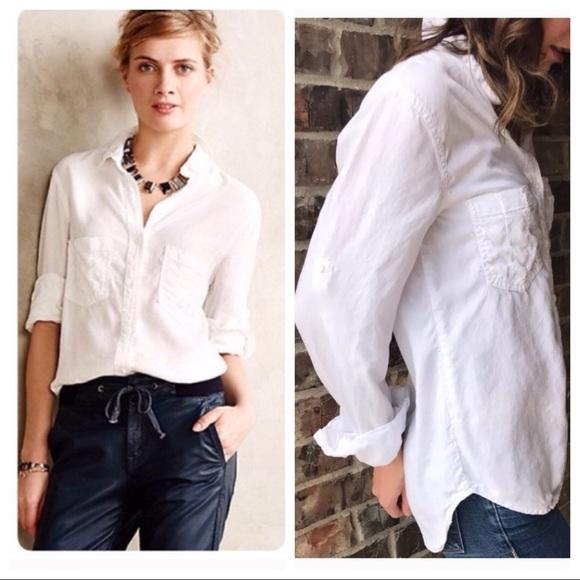 cb3c3e4dc37 Anthropologie Tops - Anthropologie Cloth & Stone white Button Up shirt