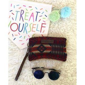 Pendleton Handbags - Pendleton Wool Indian Blanket Print Wristlet Bag