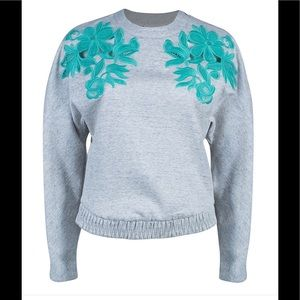 3.1 Phillip Lim Sweaters - Phillip Lim 3:1 Guipuire Embroidered Sweatshirt