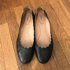 Chloe Shoes - Chloe scalloped ballerina flats