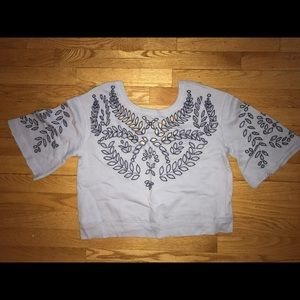 Free people crop sweatshirt