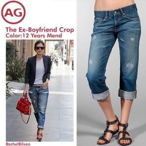 Ag Adriano Goldschmied Denim - Adriano Goldschmied AG Ex Boyfriend Crop Jeans 25