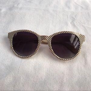Forever 21 cream polka dot sunglasses