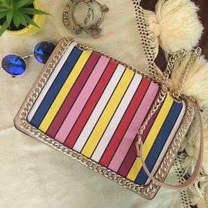 NWOT Colored striped purse