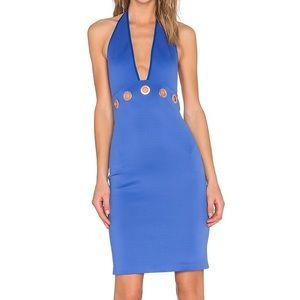 Clover Canyon Dresses & Skirts - Clover Canyon Bright Blue Halter Midi Dress