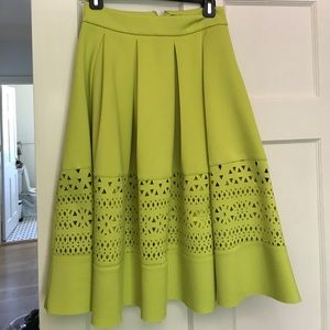 Asos skirt in scuba material with cut out detail