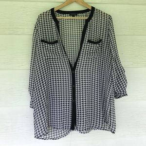 Spense Tops - Houndstooth blouse