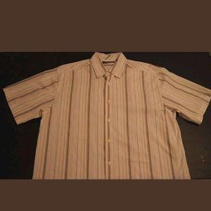 Cubavera Other - CUBAVERA Striped Cotton Casual Short Sleeve 👕